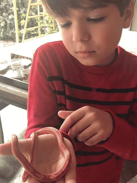 Lorenzo Gabriel, filho de Luciana Gimenez e Marcelo de Carvalho - Reprodução/Instagram
