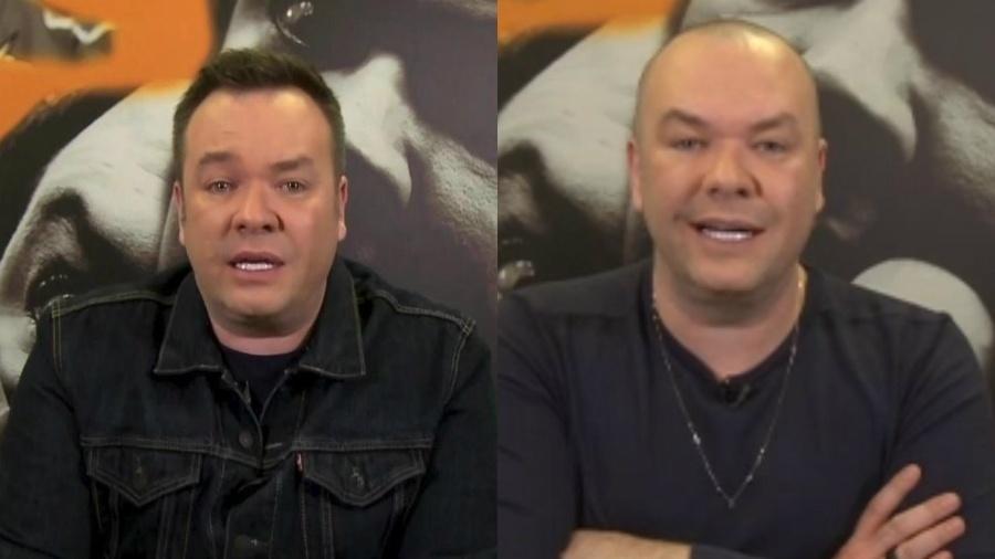 """Felipeh Campos aparece com o cabelo raspado no """"A Tarde é Sua"""" - Reprodução/RedeTV!"""