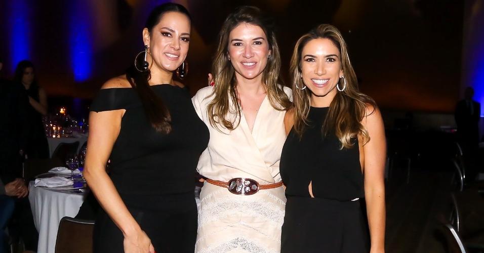 As irmãs Silvia, Rebela e Patrícia Abravanel