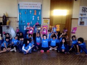 Pets na escola - A escola também desenvolveu uma campanha de doação para um abrigo de gatos - Divulgação - Divulgação