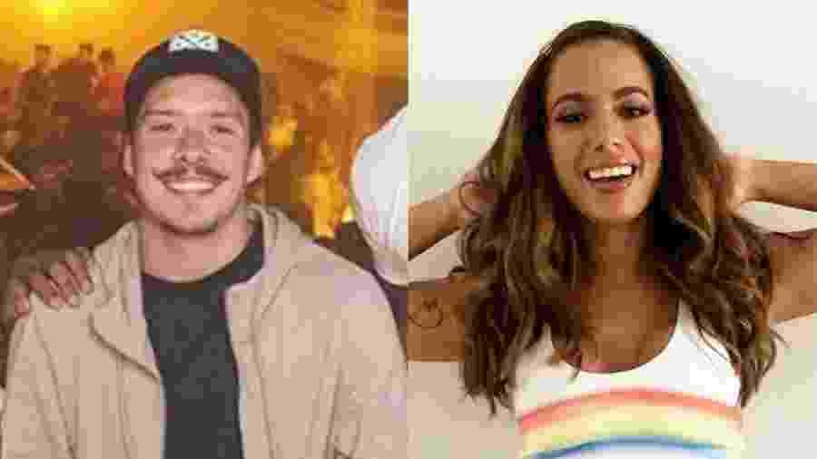 Anitta conheceu Ronan Cravalho em um festa na sua casa  logo depois da separação com Thiago Magalhaes - Reprodução/Montagem UOL