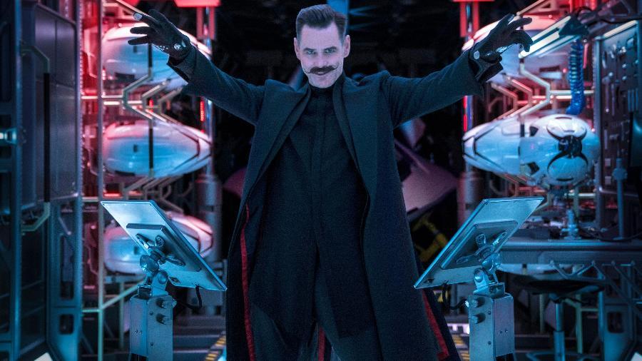 Jim Carrey interpreta o vilão Dr. Ivo Robotnik - Divulgação