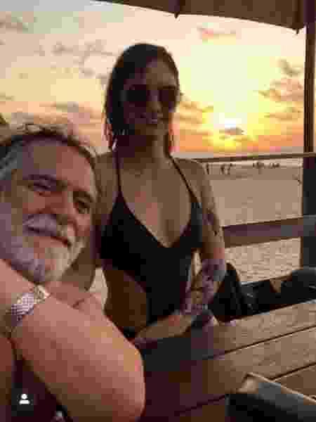 Namorada se declara a Zé de Abreu em viagem romântica - Reprodução/Instagram