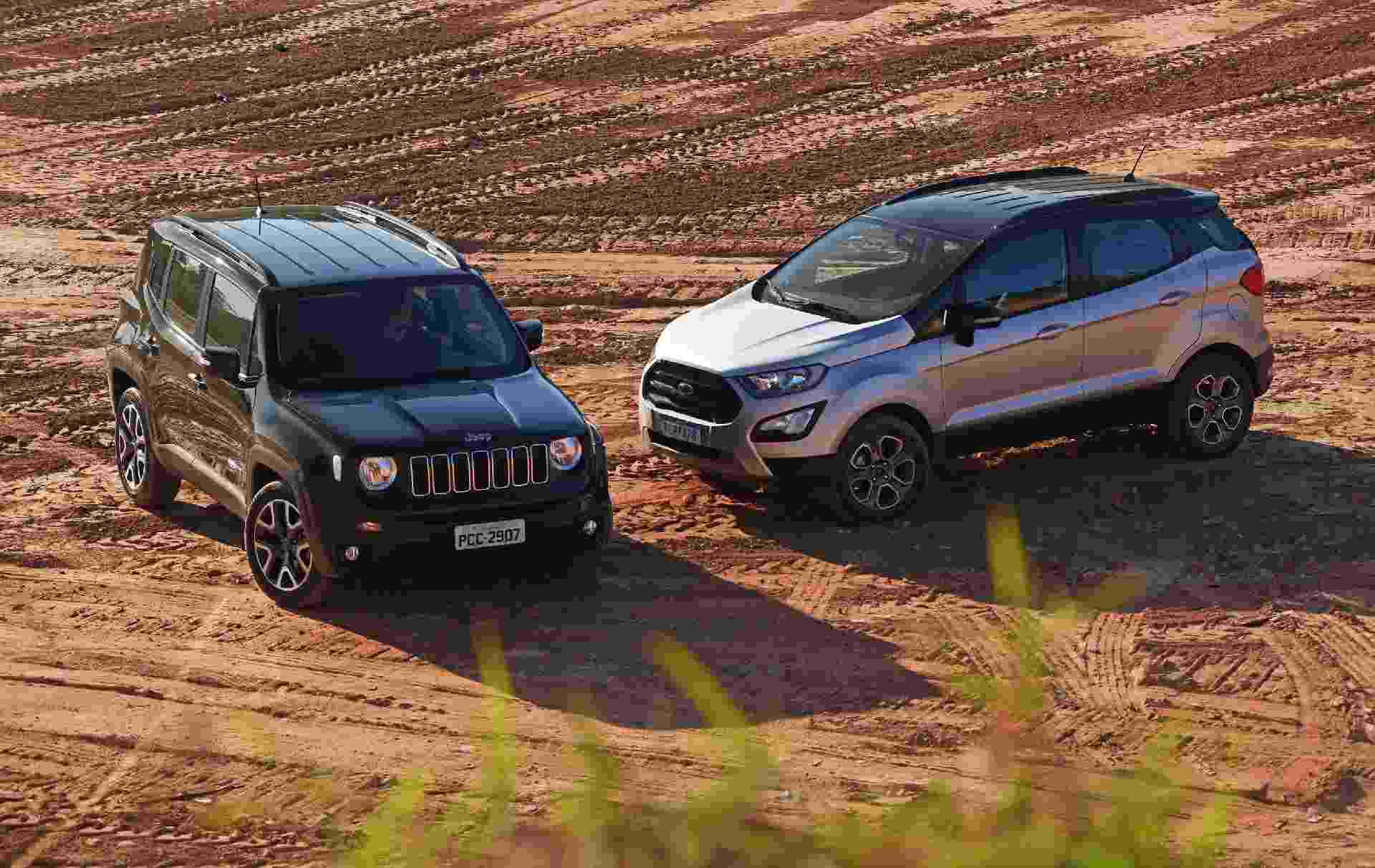 Ford EcoSport Freestyle x Jeep Renegade Longitude - Murilo Góes/UOL