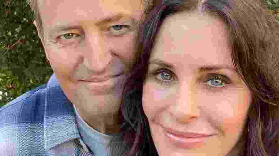 Atores interpretaram um casal por anos na série Friends - Reprodução/Instagram