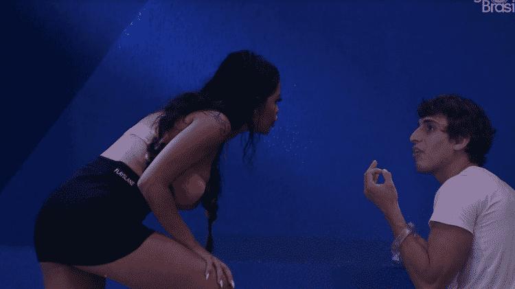 Flayslane briga com Felipe durante festa do líder no BBB 20 - Reprodução/Globoplay - Reprodução/Globoplay