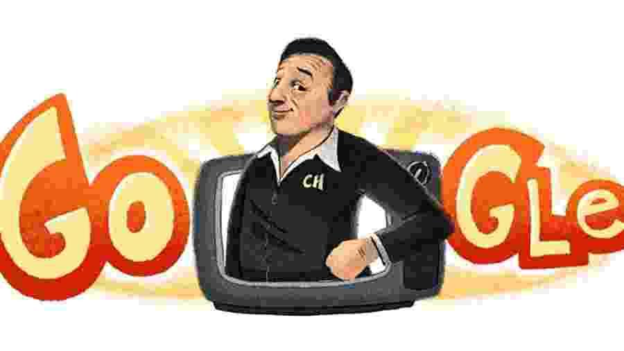 Doodle de Roberto Bolaños no Google - Reprodução/Google