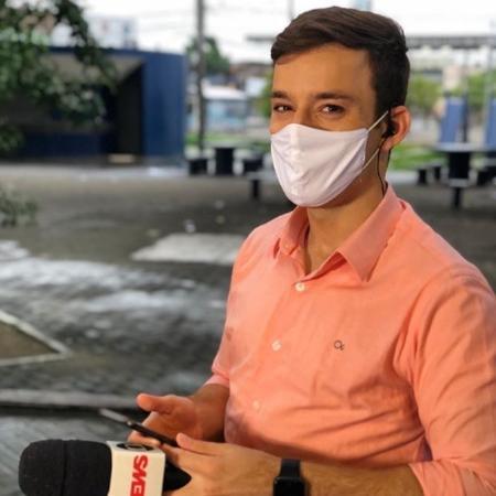 O repórter Danilo Cesar, da Globo recife, que foi agredido fisicamente durante uma reportagem  - Reprodução / Instagram