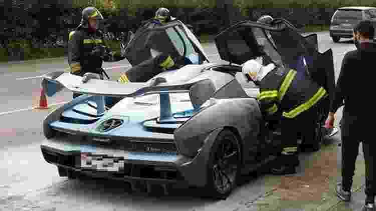 McLaren Senna incêndio pega fogo Braga Portugal - Reprodução - Reprodução