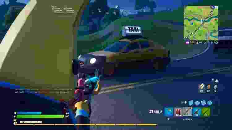 fortnite_taxi - Reprodução - Reprodução