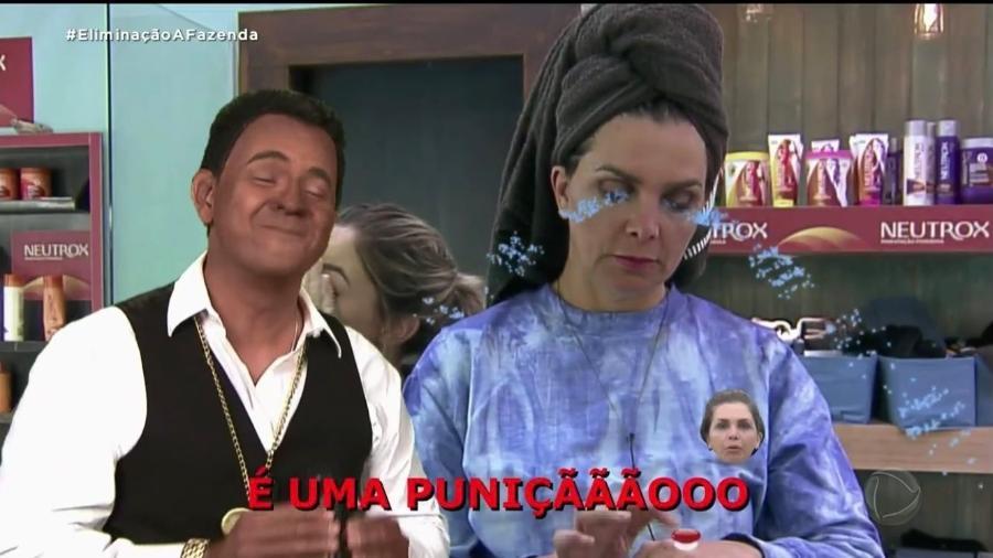 """Carioca fez blackface durante seu quadro em """"A Fazenda"""" - Reprodução"""