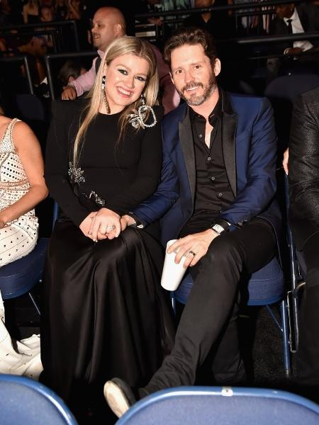 Kelly Clarkson e o ex-marido, Brandon Blackstock - Getty / Jeff Kravitz