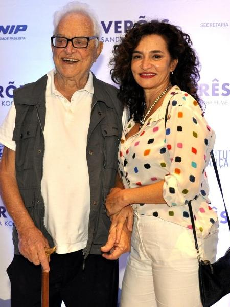 Rogério Fróes e a filha Giselle Fróes - Reprodução/TV Globo