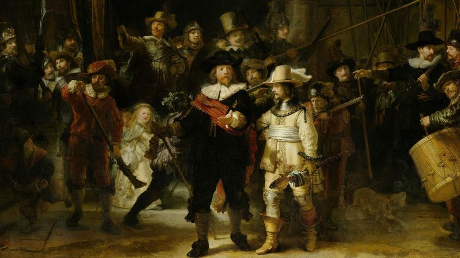 """A Ronda Noturna"" - Rembrandt/Rijksmuseum"