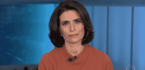 """Âncora do """"JN"""" se emociona ao noticiar morte de colega em acidente de trânsito - Reprodução/TV Globo"""