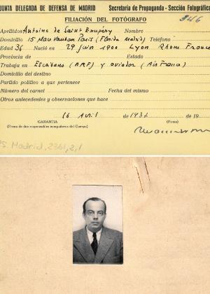 A credencial de Antoine de Saint-Exupery  - AFP