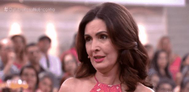Fátima Bernardes se emociona com história de mulher que superou câncer de mama - Reprodução/TV Globo