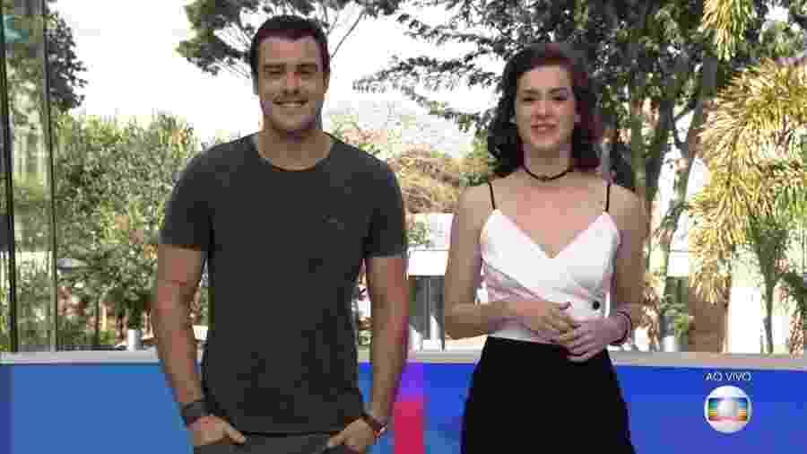 """Joaquim Lopes e Sophia Abrahão, os apresentadores  no """"Video Show"""" - Reprodução"""