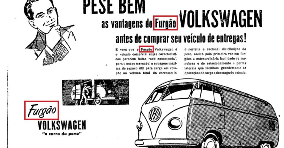 Anúncio Volkswagen Kombi 1951