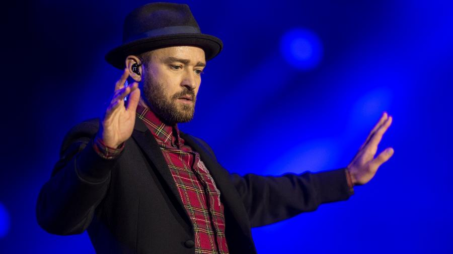 O cantor americano Justin Timberlake - Ricardo Borges/Folhapress