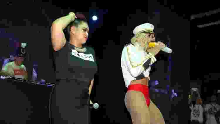 Preta Gil e Pabllo Vittar na inauguração da boate Black Tape, em Salvador - Thiago Duran/AgNews - Thiago Duran/AgNews