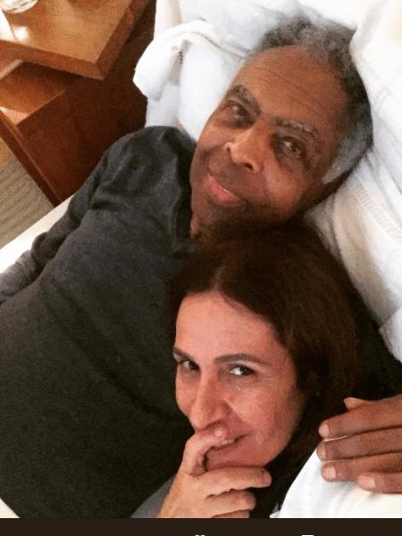 Gilberto Gil e a mulher, Flora - Reprodução/Twitter