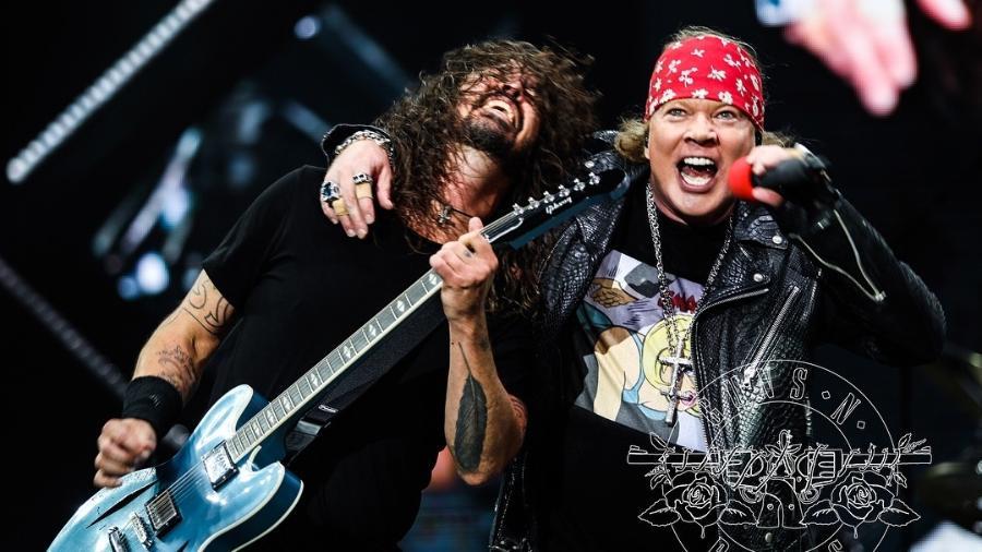 Axl Rose e Dave Grohl em show na Itália - Divulgação