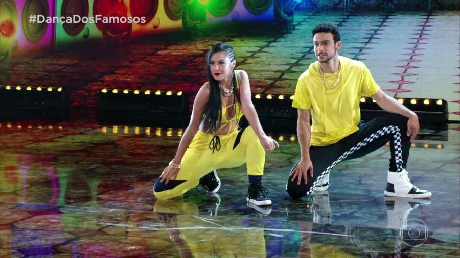 Sergio Malheiros se apresentou com a nova parceira, Suellen Morimoto, e parece que saiu satisfeito  - Reprodução/TV Globo