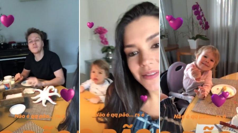 Thais Fersoza e Michel Teló tomam café da manhã com os filhos - Reprodução/Instagram