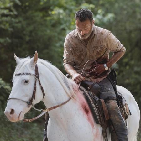 """Rick (Andrew Lincoln) em sua despedida da série """"The Walking Dead"""" - Jackson Lee Davis/AMC/Divulgação"""
