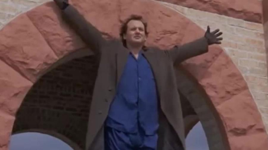 """Bill Murray em """"Feitiço do Tempo"""" (1993) - Reprodução"""