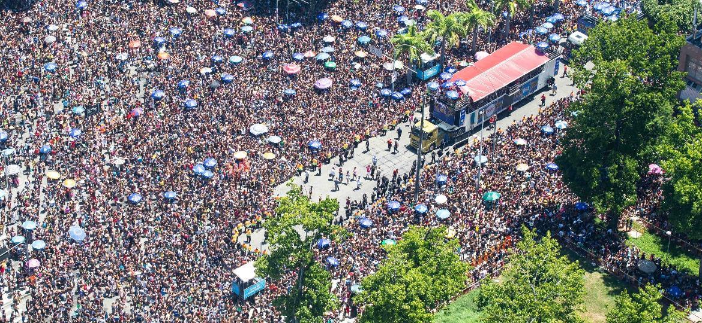 Um mar de gente acompanhou  o Bloco da Preta, no centro do Rio de Janeiro - Fernando Maia/Riotur