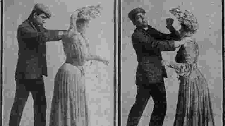 Até manual de defesa pessoal explicando como usar os alfinetões foi criado, na época - Divulgação - Divulgação