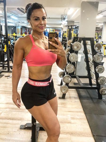Viviane Araujo treina para se preparar para o Carnaval - REPRODUÇÃO/INSTAGRAM