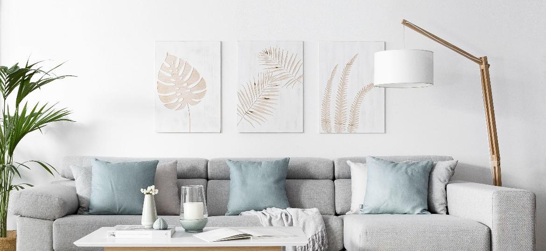 Sala de estar com decoração escandinava pode ser composta de forma simples e truques baratos para o bolso - Reprodução/Pinterest