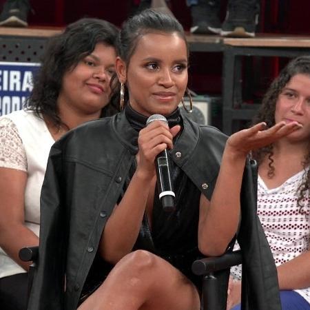 """Gleici no """"Altas Horas"""", exibido em janeiro de 2019 - Reprodução / TV Globo"""