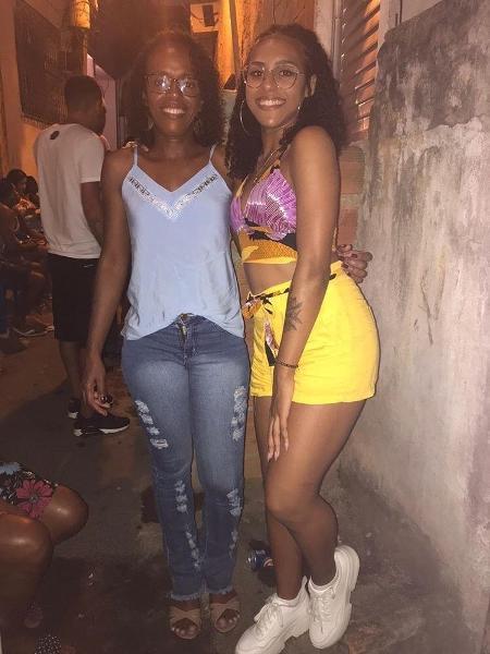 Thaís Nazaria da Silva Monteiro, 19, se inspira na mãe, Carla Maria, para buscar seu futuro - Arquivo Pessoal
