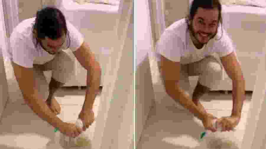 """Túlio Gadelha mostra perrengue na madrugada com o quarto cheio d""""água - Reprodução/Instagram"""
