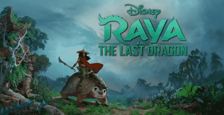 A primeira arte de divulgação de 'Raya and the Last Dragon', liberada em 2019 - Reprodução/IMDB - Reprodução/IMDB