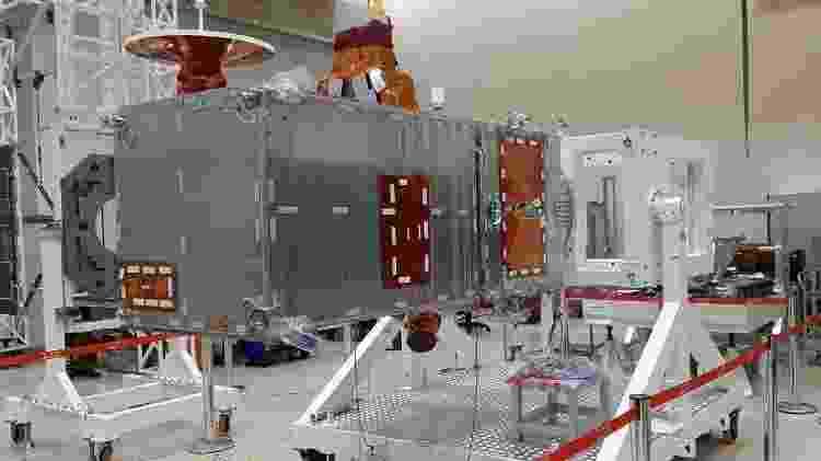 O Amazônia-1 será lançado em fevereiro de 2021, em um base da Índia  - Divulgação/INPE - Divulgação/INPE