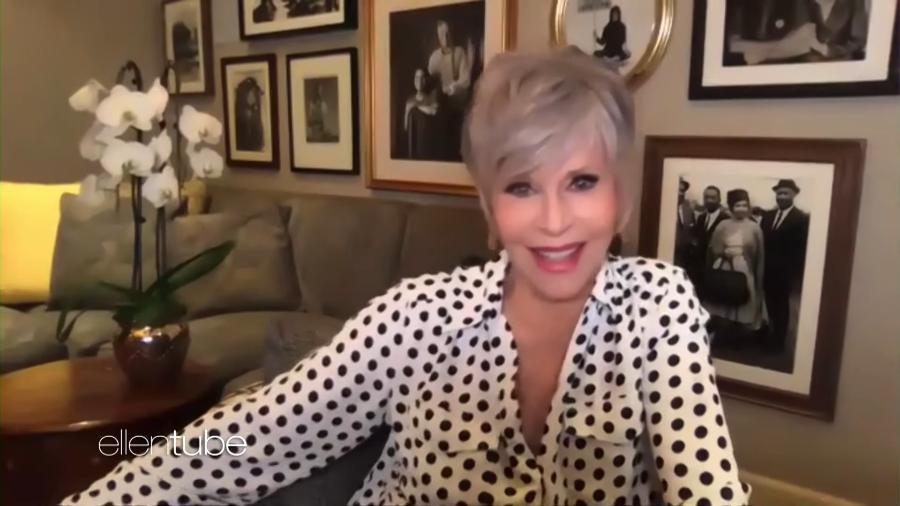 Jane Fonda durante o The Ellen DeGeneres Show  - Reprodução/YouTube