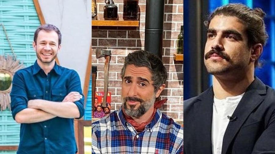 Dança das cadeiras dos apresentadores: Tiago Leifert, Marcos Mion e Caio Castro - Reprodução / Instagram