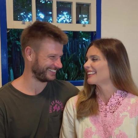 Fernanda Lima e Rodrigo Hilbert durante Conversa com Bial. - Vídeo/Reprodução