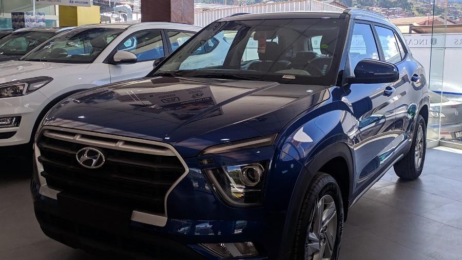 Hyundai Creta em concessionária do Peru - Fabio Evangelista/Reprodução