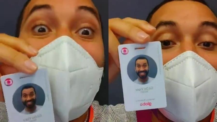BBB 21: Gil do Vigor usou seu crachá da TV Globo pela primeira vez - Reprodução/Instagram