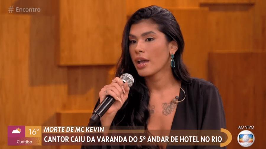 """Pocah participou do """"Encontro com Fátima Bernardes"""" - Reprodução / TV Globo"""