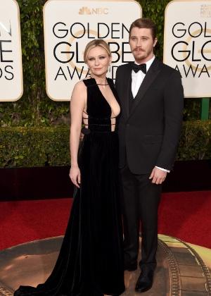 Kirsten Dunst e Garrett Hedlund no Globo de Ouro (jan. 2016) - Jason Merritt / Getty Images