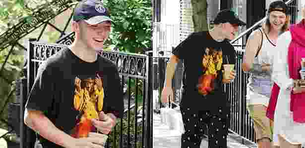 Rocco é visto nesta terça-feira com amigos em Manhattan após voltar para a casa da mãe - AKM