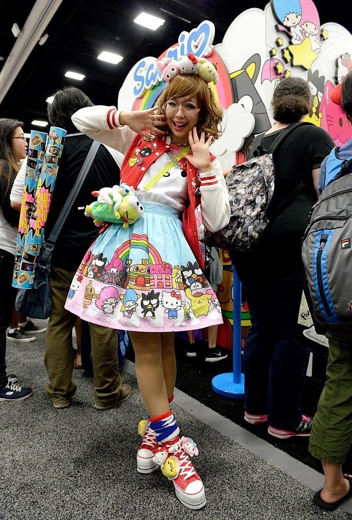 20.jul.2016 - Cosplayer de Hello Kitty participa da San Diego Comic-Con 2016
