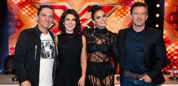 "Paulo Miklos, Fernanda Paes Leme, Alinne Rosa e Rick Bonadio, do ""X-Factor Brasil"" - Manuela Scarpa/Brazil News"